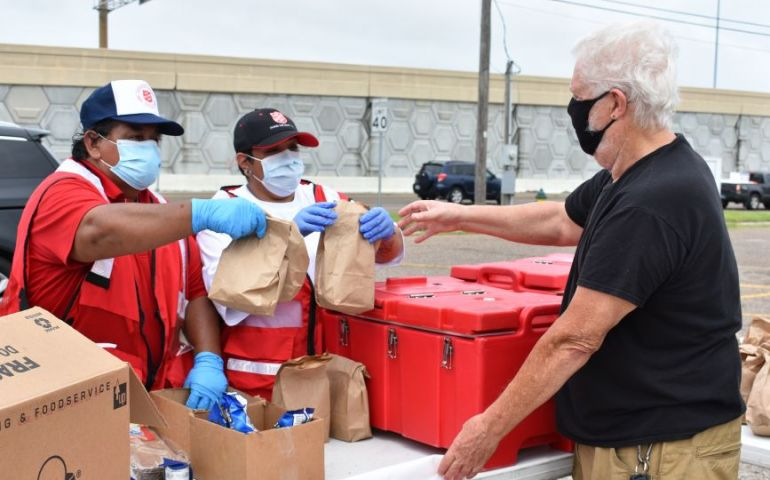 South Texas Residents Affected by Hurricane Hanna Receive Meals from The Salvation Army