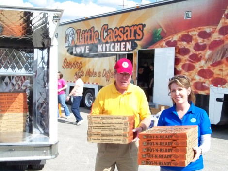 Salvation Army and Little Caesars Pizza Team-up For Tornado Response