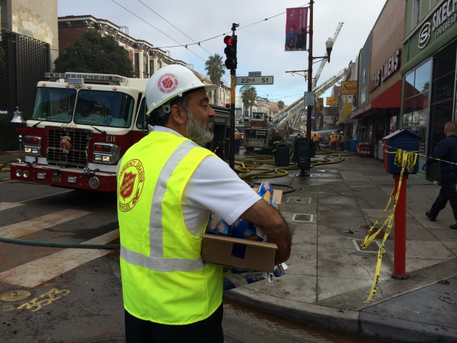 The Salvation Army Responds to San Francisco Mission District Structure Fire