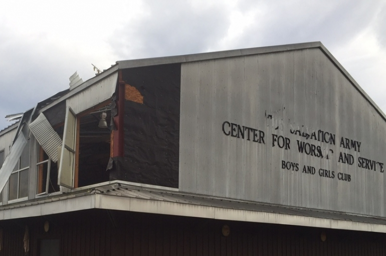 The Hattiesburg Salvation Army Damaged Extensively from Early Morning Tornado