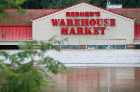 Flooding from Hurricane Irene in Wilkes-Barre PA