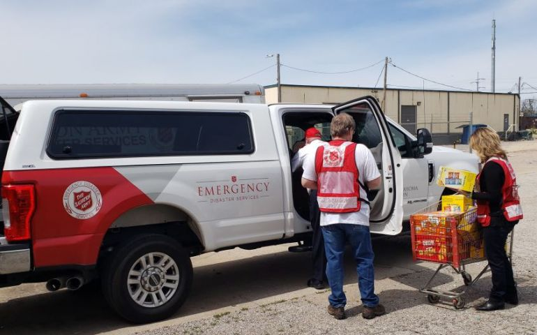 The Salvation Army of Jonesboro, Arkansas Distributed Meals  in Neighborhoods Affected by Tornadoes