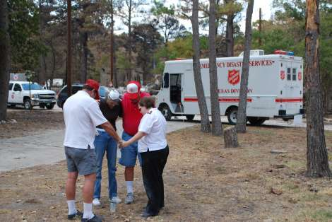Volunteers Respond to Help Salvation Army Prepare for Distribution