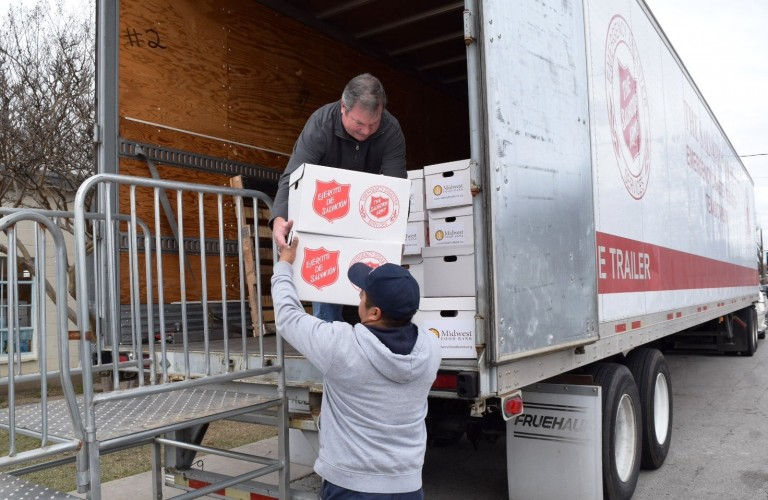 Midwest Food Bank & UPS Come Through for Salvation Army in Texas