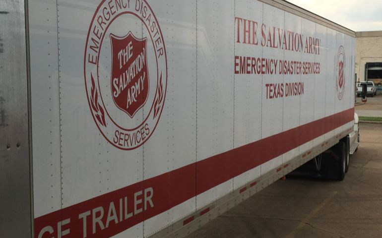Salvation Army Staged For Deployment as Hurricane Harvey Makes Landfall