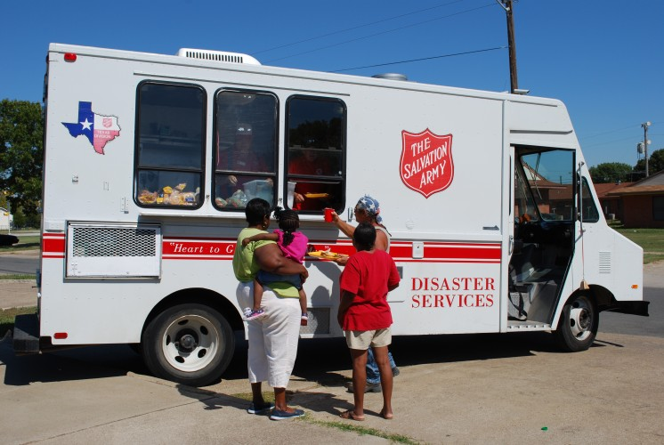 The Salvation Army Establishes Warehouse as Residents Return to West, Texas