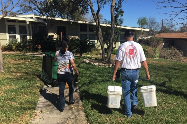Clean Up and Salvation Army Service Continues in San Antonio