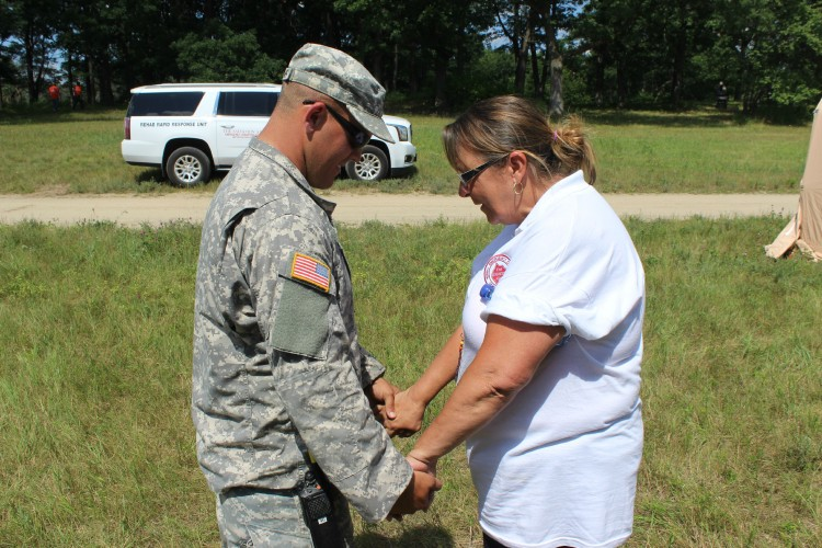 Chaplains With The Salvation Army and National Guard Learn From Each Other at PATRIOT Exercise