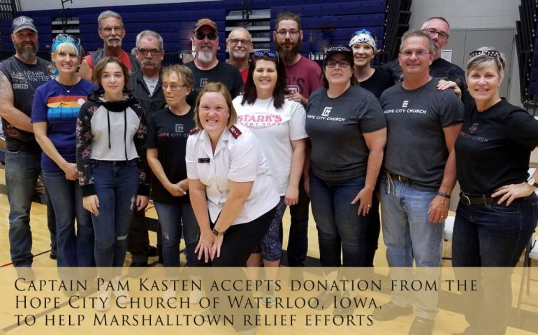 Salvation Army Relief Effort in Marshalltown, Iowa Continues