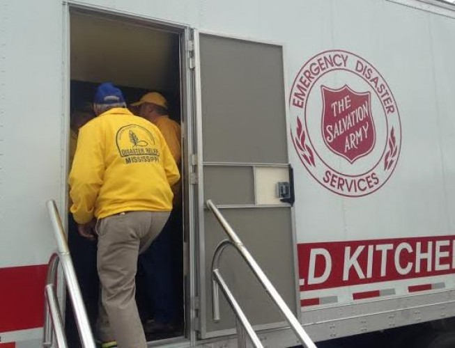 The Salvation Army Disaster Services Train with Mississippi Southern Baptists