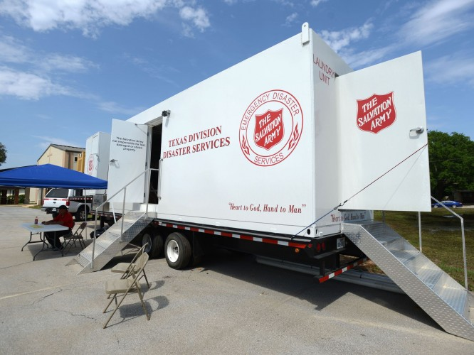 Salvation Army Laundry Unit Deployed to Wimberley, Texas