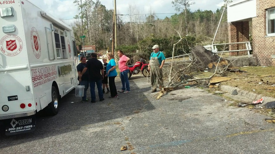 Salvation Army & Coca Cola Partner in Pensacola Tornado Relief