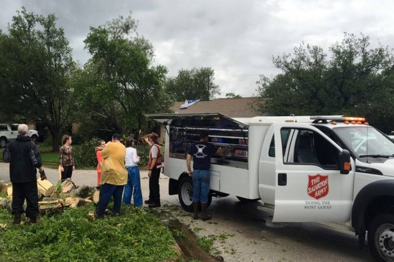 Salvation Army Teams Respond to Memorial Weekend Storms in Texas
