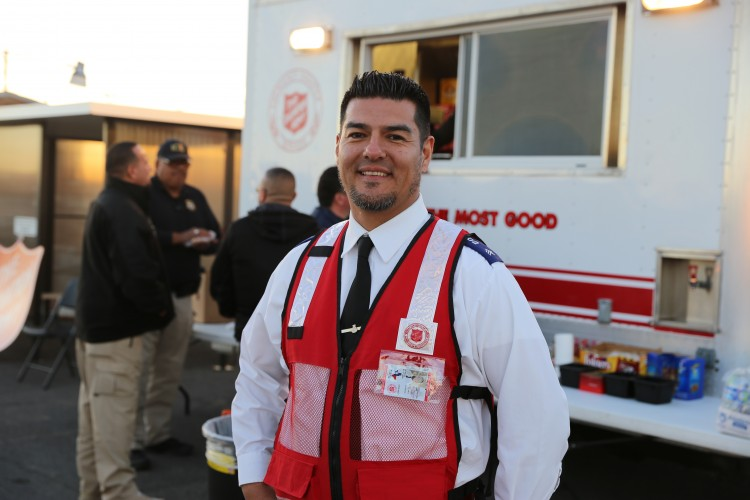 Salvation Army Feeds Law Enforcement During Visit of Pope Francis to Mexico