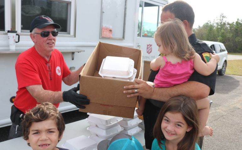 The Salvation Army Gives Father of Four First Hot Meal in Days in Alford, FL