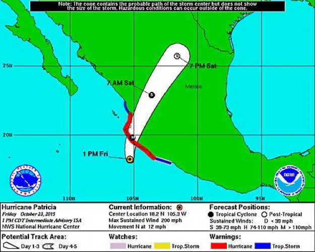 "SATERN Monitors ""Potentially Catastrophic"" Hurricane Patricia"