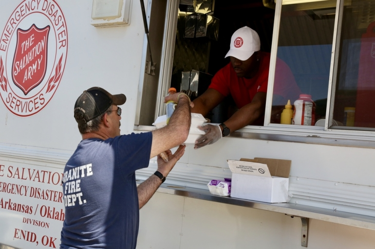 Salvation Army Support Continues in Support of Ongoing Wildfires