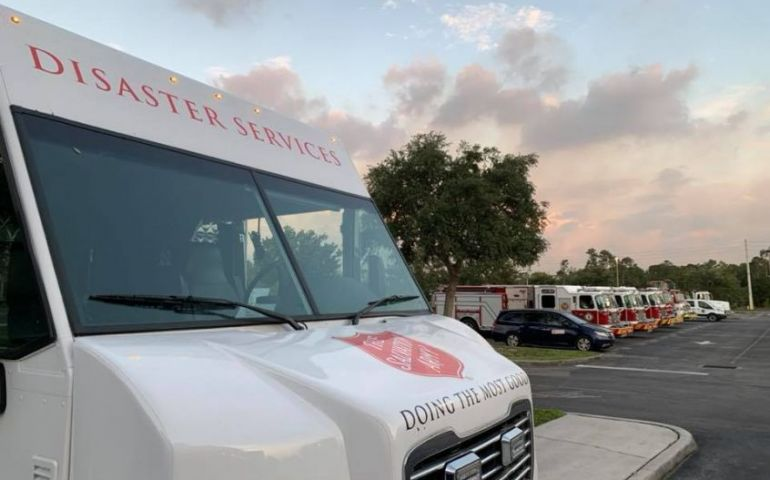 The Salvation Army Serves First Responders Battling Wildfire in Southwest Florida