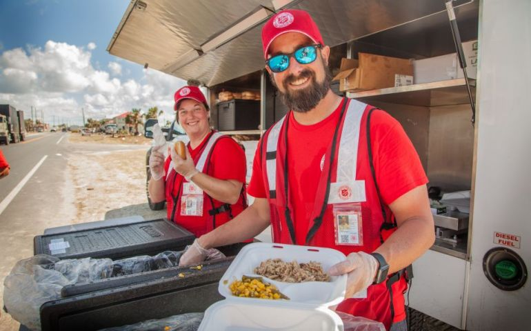 Salvation Army Team from Maryland Serving Mexico Beach After Hurricane Michael