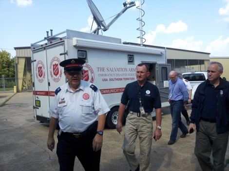 FEMA Leader Visits The Salvation Army Disaster Relief Operation