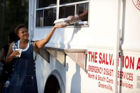 The Salvation Army Disaster Assistance Teams Focused on Mass Feeding