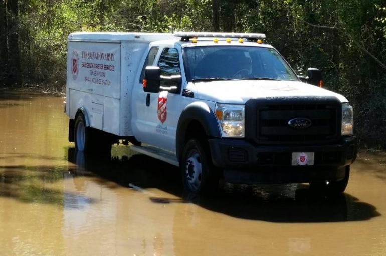 Flooded Houston Residents Receive Assistance From the Salvation Army