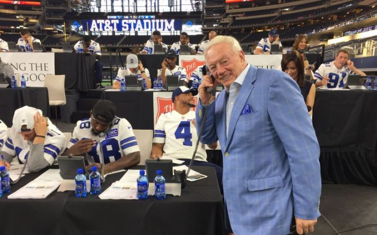 Dallas Cowboys Help Raise $2.3 Million for The Salvation Army Relief Efforts