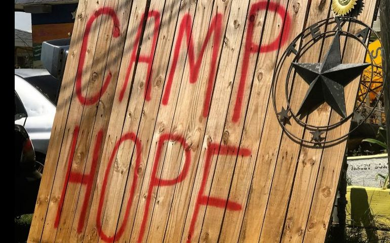Camp Hope and The Salvation Army in Port Aransas, Texas