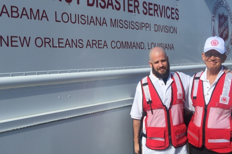 Father, son team delivers food and hope in Baton Rouge flood