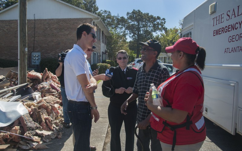 NASCAR's Joey Logano and Jordan Anderson Visit Salvation Army in SC