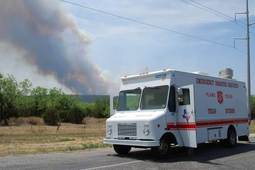 Salvation Army Supports Texas Wildfire Fighters
