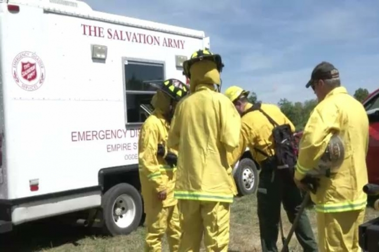 The Salvation Army Assists at St. Lawrence County Wild Fire