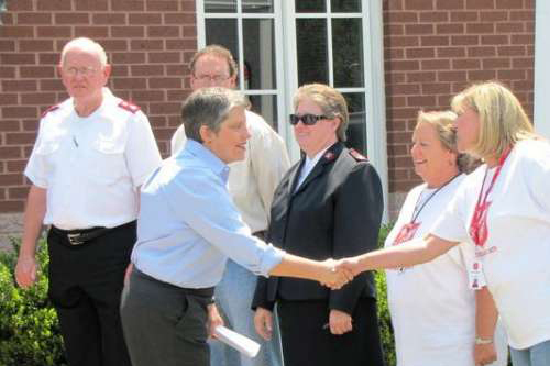 DHS Secretary Janet Napolitano Visits With Salvation Army