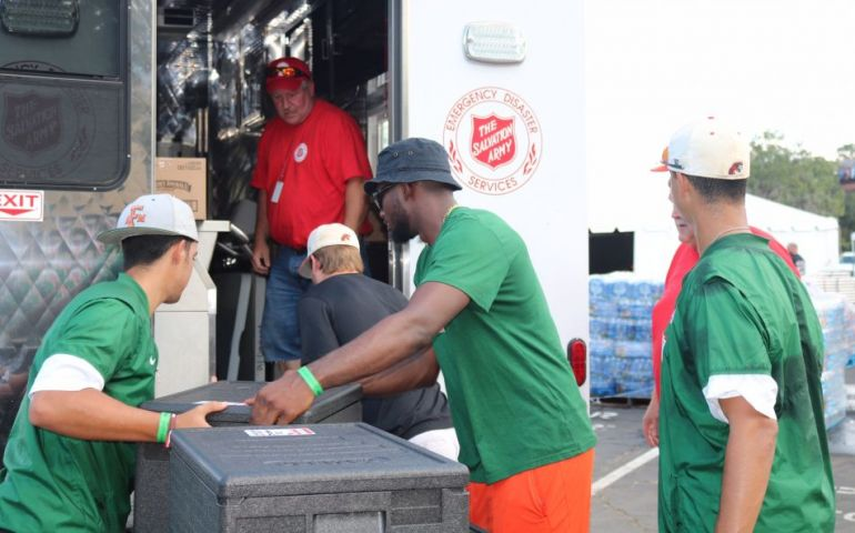 FAMU Athletes Lend The Salvation Army a Helping Hand for Tallahassee Relief