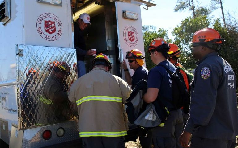 The Salvation Army Responds to C-130 Crash in Savannah, GA