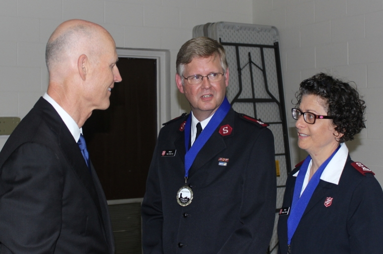 Florida Governor Rick Scott honors Salvation Army volunteers