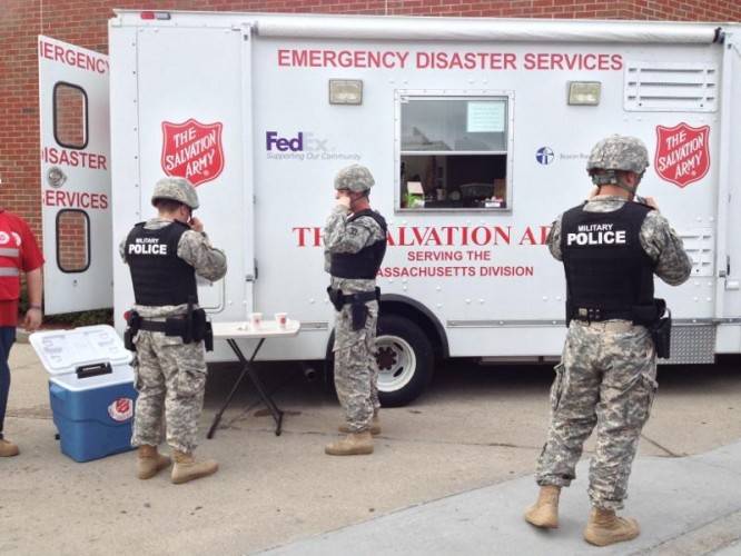 The Salvation Army Supports Responders During Boston Manhunt