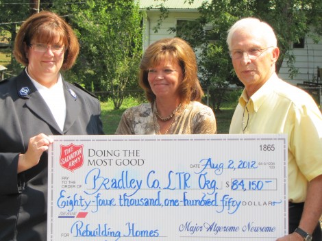 Chattanooga Salvation Army Awards $142,000 in Tornado Aid