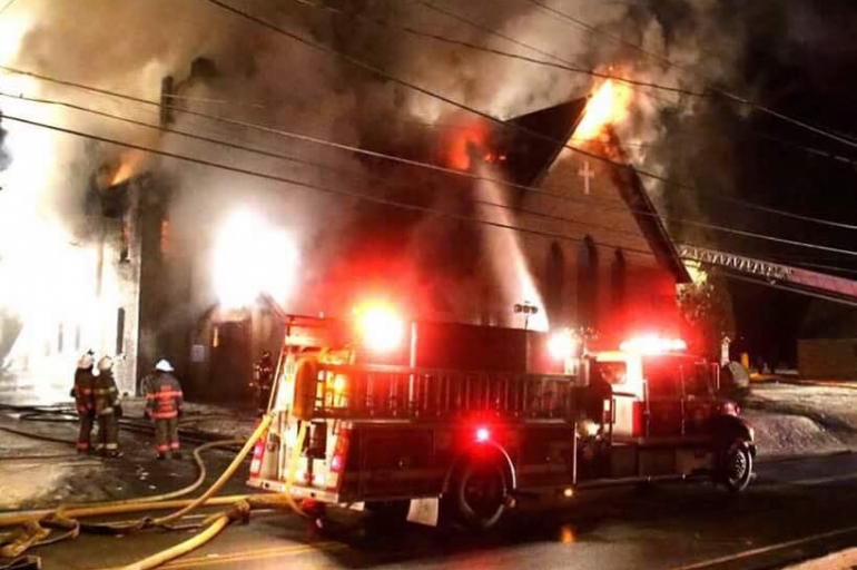 The Salvation Army Responds to Large Church Fire in Otsego County