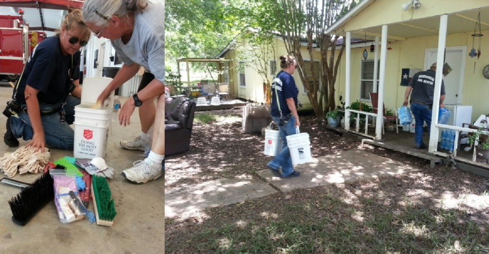 The Salvation Army Texas Division delivers cleaning supply kits for flood survivors