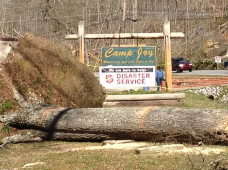 Salvation Army Disaster Recovery Center is in Operation at Camp Joy