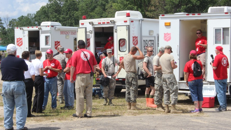 The Salvation Army Participates in National Guard's PATRIOT 2015 Exercise