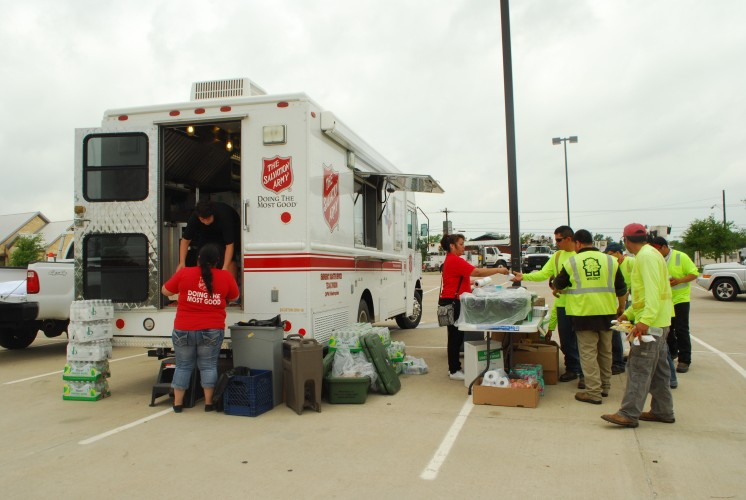 The Salvation Army Staff and Volunteers Responding to Tornadoes in Cleburne and Granbury, Texas