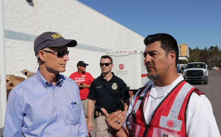 Florida Governor Visits Salvation Army Disaster Relief Operation in Panama City