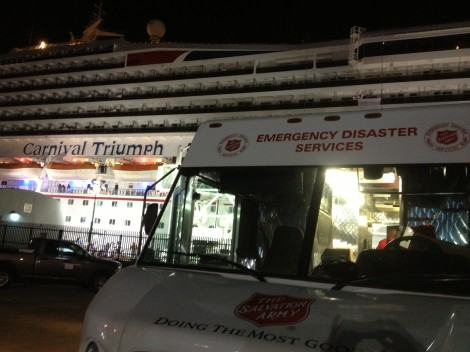 The Salvation Army Serves Families Awaiting Carnival Triumph In Mobile