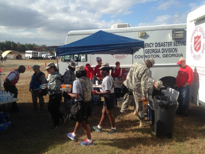 The Salvation Army takes Part in WMD Military Drills