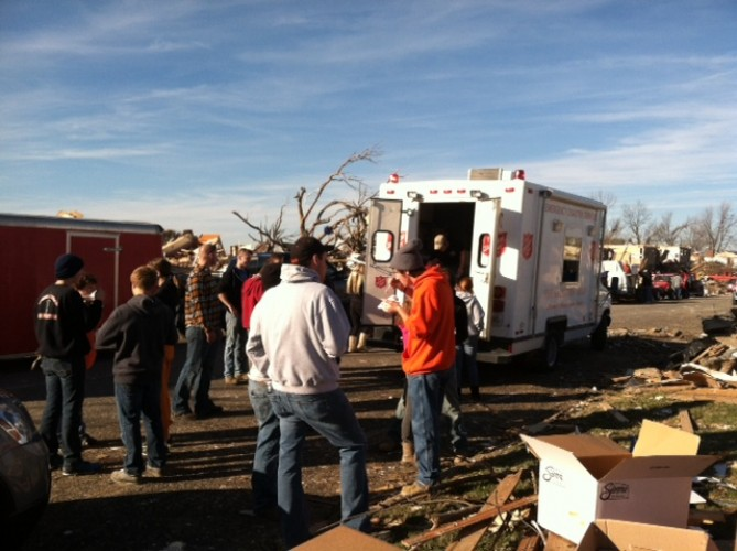 Salvation Army Efforts Intensified in Tornado Damaged Midwestern Cities