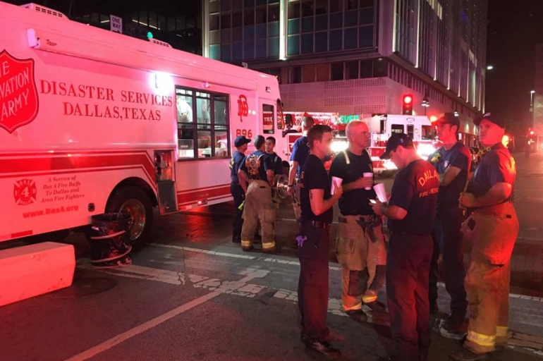 The Salvation Army Provides Support Following Downtown Dallas Shooting