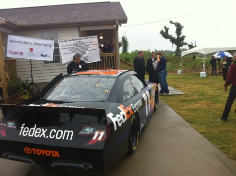 FedEx, NASCAR Driver Denny Hamlin & The Salvation Army Welcome Family Home