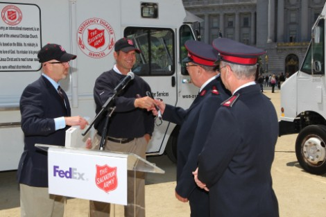 San Francisco Salvation Army Receives Special Delivery from FedEx